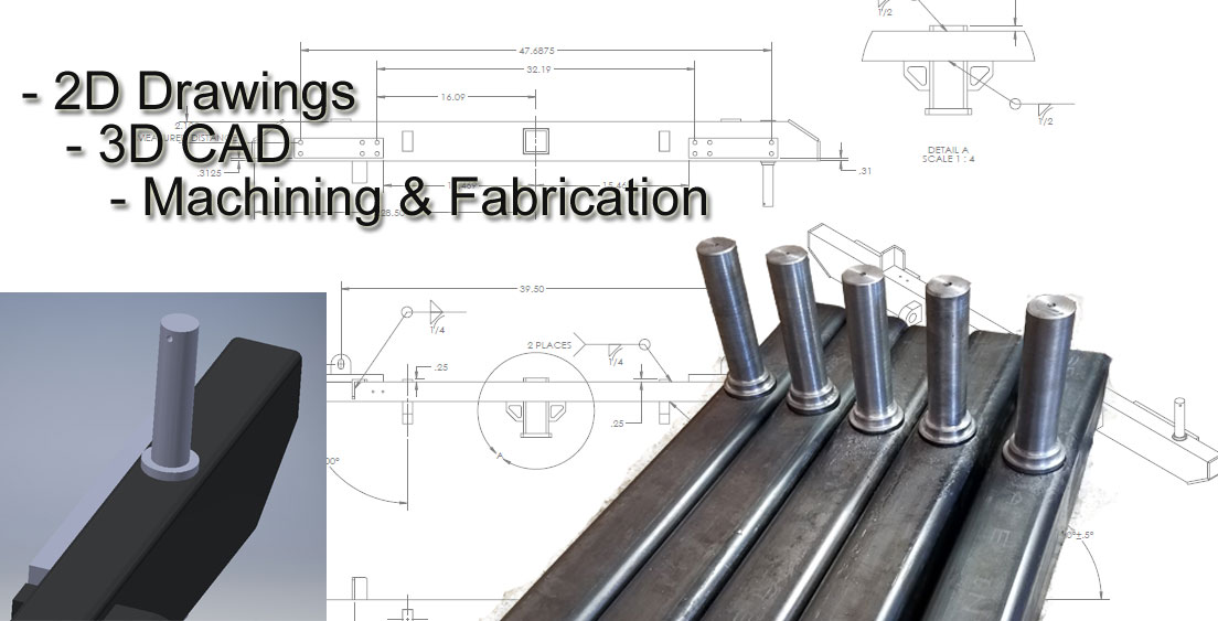 Mechanical Design Services Product Design Engineering 2D Drawings 3D CAD Machining Fabrication